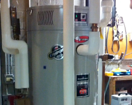 Bradford White water heater installed in school